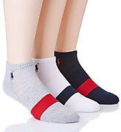 Polo Ralph Lauren Varsity Single Stripe Low Cut Socks - 3 Pack 827166PK