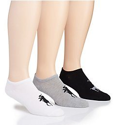 Polo Ralph Lauren Knit-In Pony Player No Show Sock - 3 Pack 8315PK