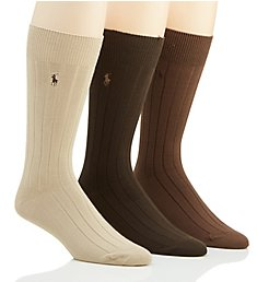 Polo Ralph Lauren 10X2 Super Soft Rib Socks - 3 Pack 8662PK