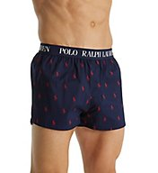 Polo Ralph Lauren Stretch Slim Fit Polo Player Woven Boxer L100RL