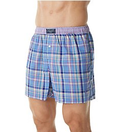 Polo Ralph Lauren Classic Contrast Band Plaid Woven Boxer L111HR