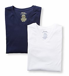 Polo Ralph Lauren Stretch Cotton Jersey V-Neck T-Shirts - 2 Pack LEVNP2