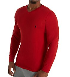 Polo Ralph Lauren Lightweight Waffle Long Sleeve V-Neck Sleep Shirt PW71FR