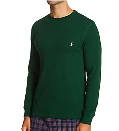 Polo Ralph Lauren Waffle-Knit Long Sleeve Crew Shirt PWLCFR