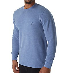 Polo Ralph Lauren Lightweight Waffle Long Sleeve Crew Sleep Shirt PWLCHF