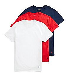 Polo Ralph Lauren Classic Fit 100% Cotton Crew T-Shirts - 3 Pack RCCNH3