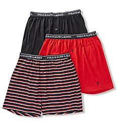 Polo Ralph Lauren Classic Fit Cotton Knit Boxers - 3 Pack RCKBP3