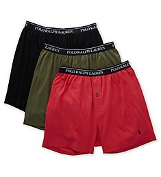 Polo Ralph Lauren Classic Fit Cotton Knit Boxers - 3 Pack RCKBS3