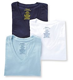 Polo Ralph Lauren Classic Fit 100% Cotton V-Neck Shirts - 3 Pack RCVNP3