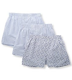 Polo Ralph Lauren Classic Fit Cotton Woven Boxers - 3 Pack RCWBS3