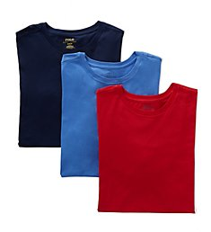 Polo Ralph Lauren Slim Fit 100% Cotton Crew T-Shirts - 3 Pack RSCNP3