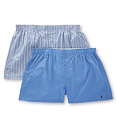 Polo Ralph Lauren Big Man Classic Fit Woven Boxers - 2 Pack RXWBP2