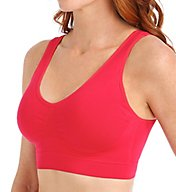 Rhonda Shear Ahh Cotton Blend Seamless Bra with Removable Pads 9704