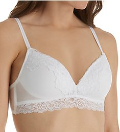 Self Expressions Point d'Esprit Lace Band Bralette Bra SE1130