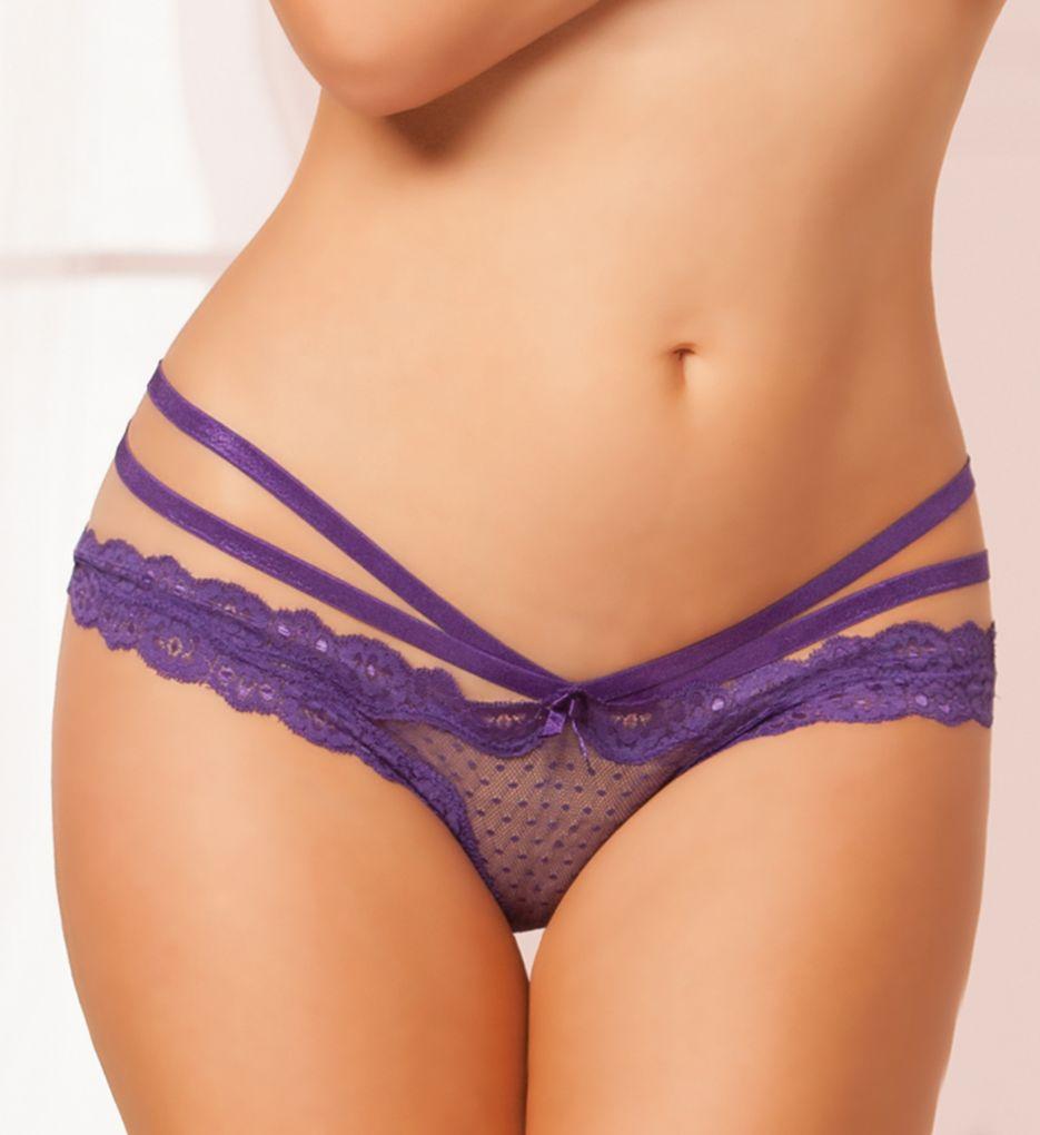 Seven 'til Midnight Open Crotch Mesh Panty 10513