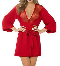 Seven 'til Midnight Toast of the Town Satin and Eyelash Robe 10695
