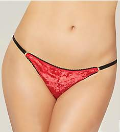 Seven 'til Midnight Crushed Velvet Lace Bikini Panty 10821