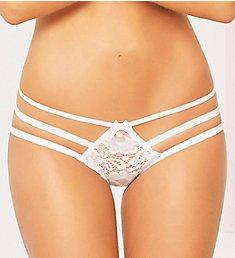 Seven 'til Midnight Lace Open Crotch Bikini With Keyhole Back 10902