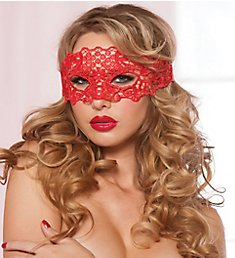 Seven 'til Midnight Lace Eye Mask with Satin Ribbon Ties 40132