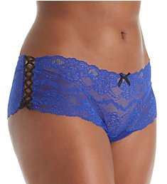 Seven 'til Midnight Plus Size Lace Up Boyshort Panty 9471X