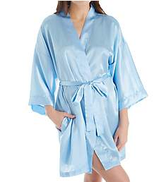 Shadowline Charming Satin Wrap Robe 4510