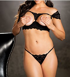 Shirley of Hollywood Venice and Lace Bra Set 25694