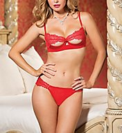 Shirley of Hollywood Lace Bra and Panty 2 Piece Set 31070