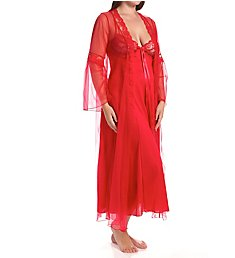 Shirley of Hollywood Plus Size 2 Piece Long Gown Peignoir Set X3489