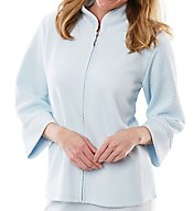 Softies by Paddi Murphy Mandarin Collar Waffle Zip Bed Jacket 6349-10