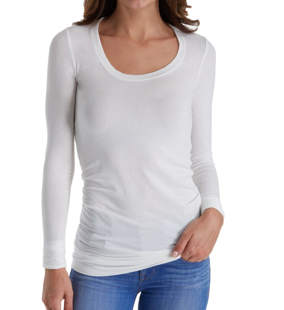 Splendid Stretch Sheer Layers Long Sleeve Tunic 9I4570