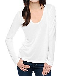 Splendid Very Light Jersey Long Sleeve V-Neck Tee MJ4559
