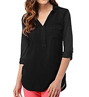 Splendid Long Sleeve Flap Pocket Shirting Tee ST5964