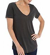 Splendid Vintage 1X1 Short Sleeve V-Neck Shirt Tail Tee ST8467