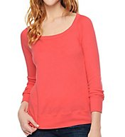 Splendid 1X1 Open Neck Long Sleeve Seamed Tee ST9684