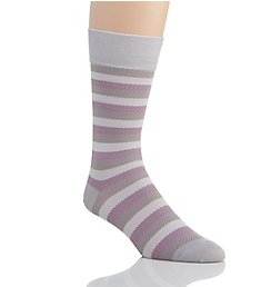 Stacy Adams Gemstones Chevron Stripe Crew Dress Sock 12041