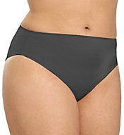 TC Fine Intimates Microfiber Wonderful Edge Hi-Cut Brief Plus Panty A4-004