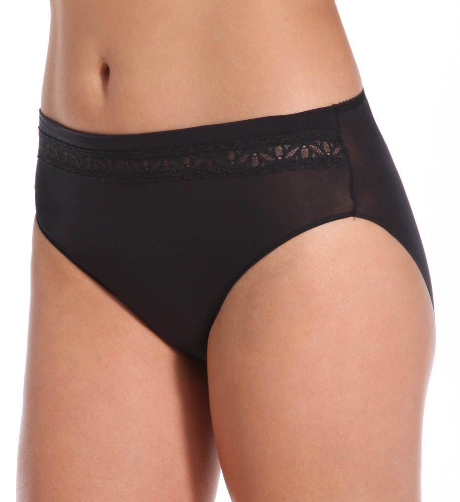 TC Fine Intimates Lace Trim Hi-Cut Brief Panty A4-074