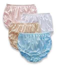 Teri Full Cut Nylon Brief Panty - 4 Pack 331