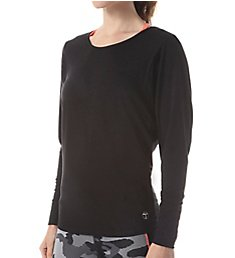 Trina Turk Knotted Jacquard Jersey Dolman Long Sleeve Top TR65D51