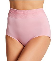 Warner's No Pinching. No Problems. Brief Panty with Lace RS7401P